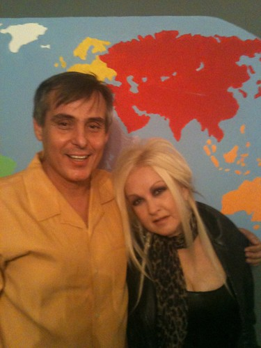 Jacques Rosas and Cyndi Lauper
