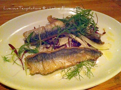 Deep Fried Sardines - Osteria Dell'Arte, Clapham