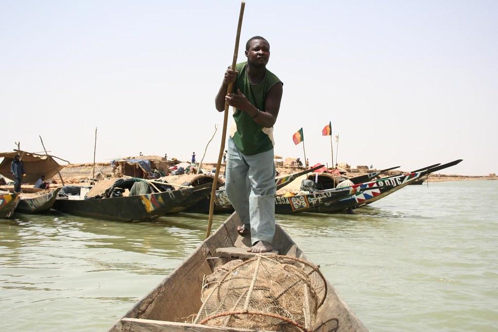 Canoas em Gao Mali Africa