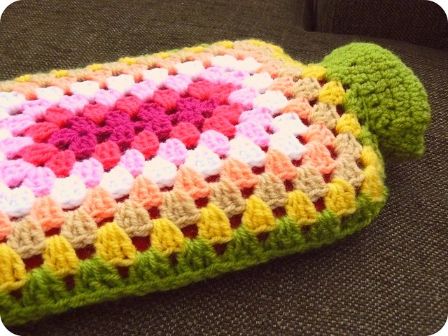 Crochet Granny Square Hot Water Bottle Cover Pattern : Hot Water Bottle with Crocheted Cover Flickr - Photo ...