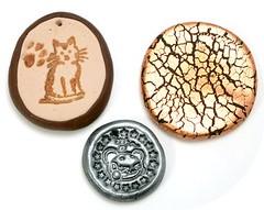 polyclay pendants
