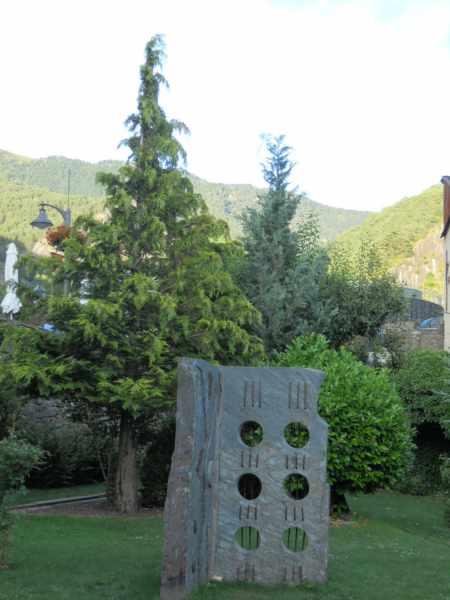 Escultura del jardín