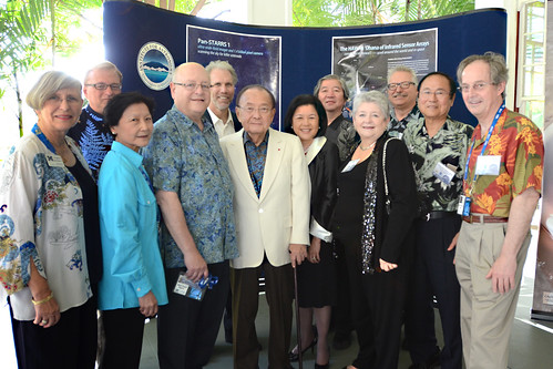 <p>From left,UH Manoa Chancellor Virginia Hinshaw, UH Hilo Chancellor Donald Straney, Dilling Yang, University of California System President Mark Yudof, UC Berkeley Professor Steven Beckwith, Senator Daniel and Irene Inouye, National Astronomical Observatory of Japan Director General Shoken Miyama, UH System President M.R.C. Greenwood, UH Institute for Astronomy Director Gunther Hasinger, UC Santa Barbara Chancellor Henry Yang, California Institute of Technology President Jean-Lou Chameau.</p>
