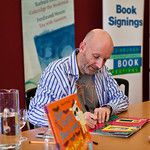 Nick Sharratt signing his picture books | Nick Sharratt was our fantastic Illustrator in Residence. He signed lots of books for his eager fans