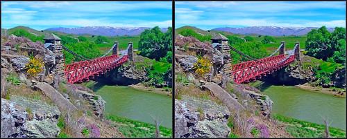 new bridge stereoscopic 3d crosseye x stereo zealand nz otago ophir