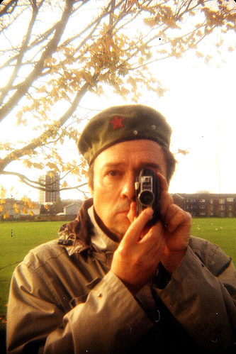 reflected self-portrait with Durst Duca camera and Che Guevara hat by pho-Tony