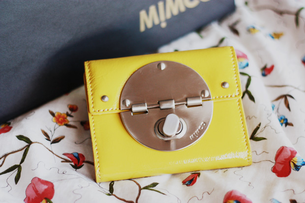 mimco yellow wallet a