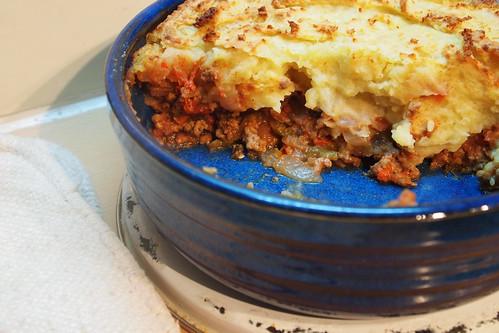 Cottage pie post dinner