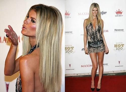Marisa-Miller-vestido-corto-ajustado