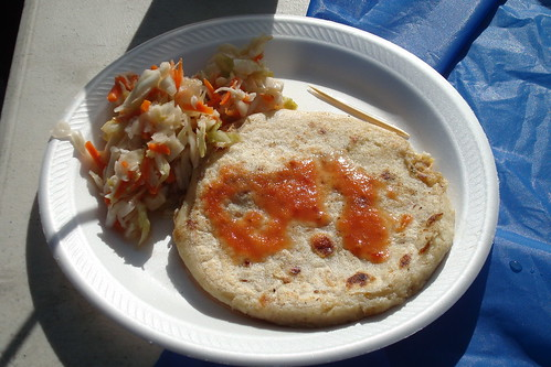 Pupusas at the Barnsdall Farmers Market