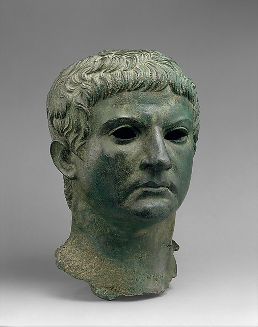 Bronze portrait of a man, identified as M. Agrippa Period: Early.