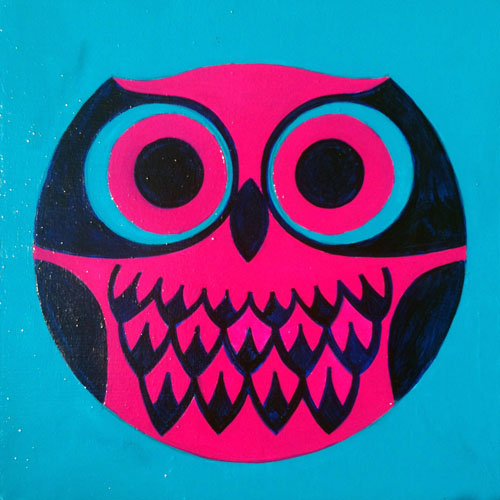 """Owl"", acrylic on board 2011 by Jason Dryg"