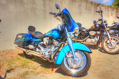 Blue Harley in HDR