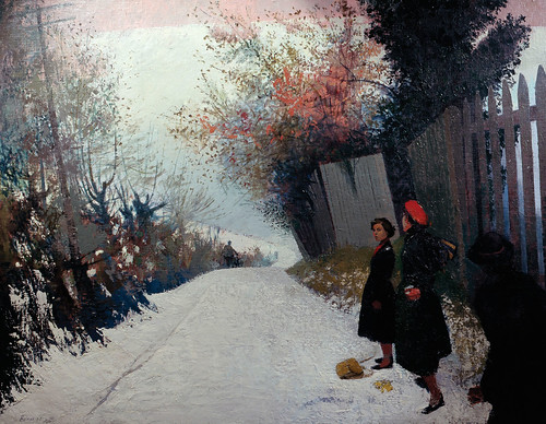 Lionel Bulmer - Footpath in the Snow [1954] by Gandalf's Gallery