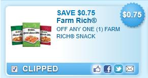 Farm Rich Snack  Coupon