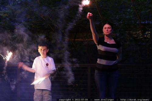 nick & rachel with sparklers