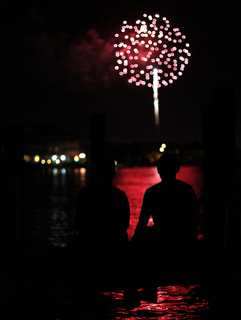 4th of july fireworks for his wife with his friend 8