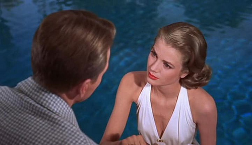 high society film 1956 grace kelly swimsuit pool swimming vintage 50s