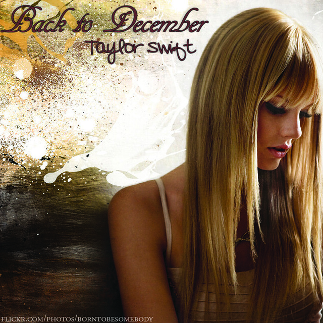 Taylor Swift Back To December CD Cover