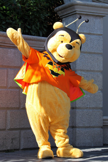 Winnie the Pooh dressed for Halloween