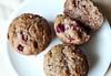 Banana Cranberry Spice Muffins (gluten-free, vegan, sugar-free)