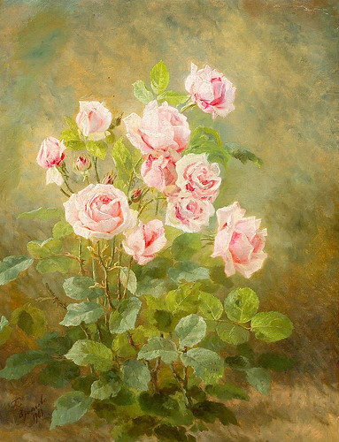 "Anthonore Christensen (Danish, 1849-1926), ""Blomstrende rose"""