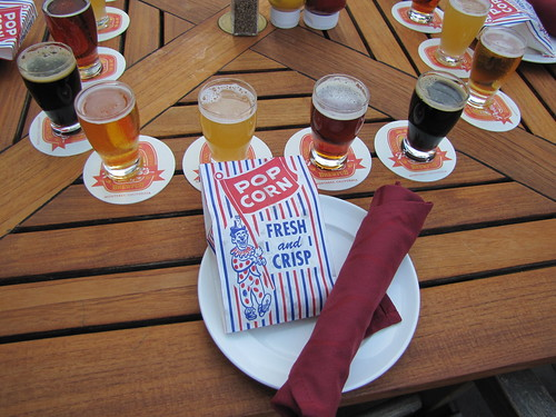 Beer Flight at Peter B's Brewpub