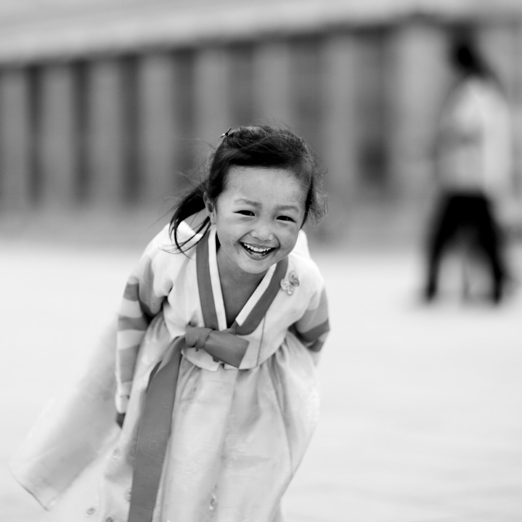 Girl in Kim il Sung square - Pyongyang North Korea