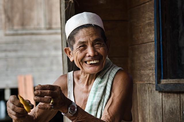 Dayak Tribe old man