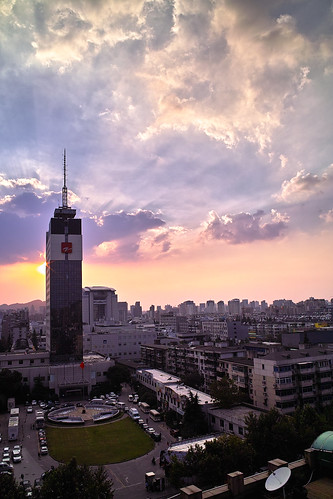 sunset sunshine sigma 日落 杭州 晚霞 夕阳 dp1 适马 浙江电视台 dp1s