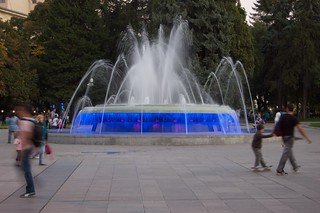 The Fountain in front of the courthouse