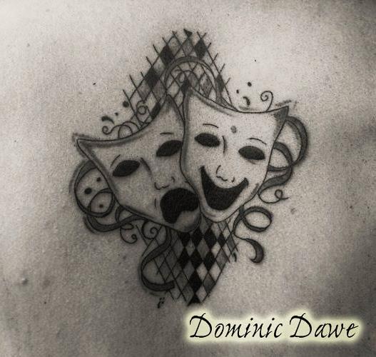 theatre mask tattoo dominic dawe flickr photo sharing. Black Bedroom Furniture Sets. Home Design Ideas