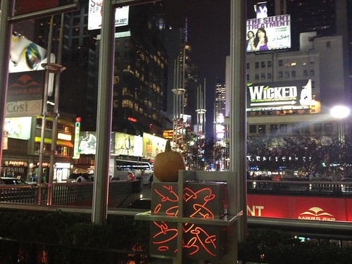 Random pumpkin in Times Square