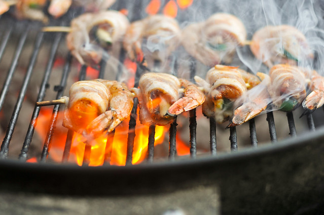 Grilled Bacon-Wrapped, Jalapeno and Cheese-Stuffed Shrimp Recipe ...