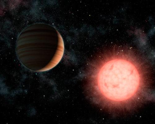 Exoplaneta y enana roja