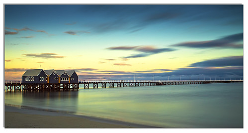 longexposure blue water sunrise long exposure jetty australia perth western busselton busseltonjettytimber