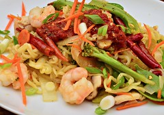 Mmm... stir fry - ramen noodles with shrimp