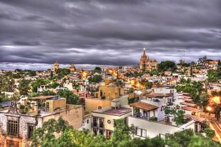 Dusk at San Miguel de Allende Mexico