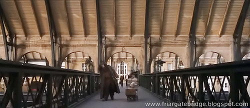 King's Cross Footbridge as seen in Harry Potter film