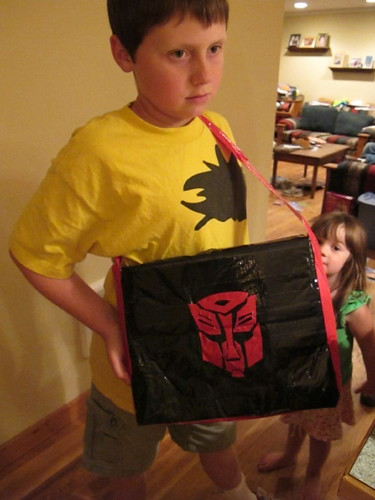 "The totally cool finished Autobot ""man satchel"""