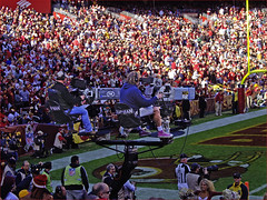 NFL on Fox TV Cameramen -- End Zone at FedEx Field Sunday November 6, 2011