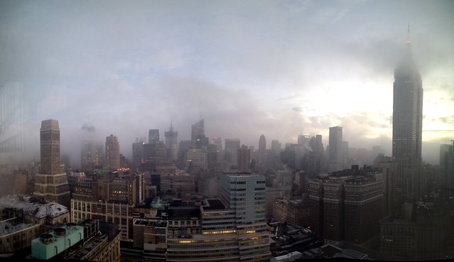 Foggy morning in Manhattan