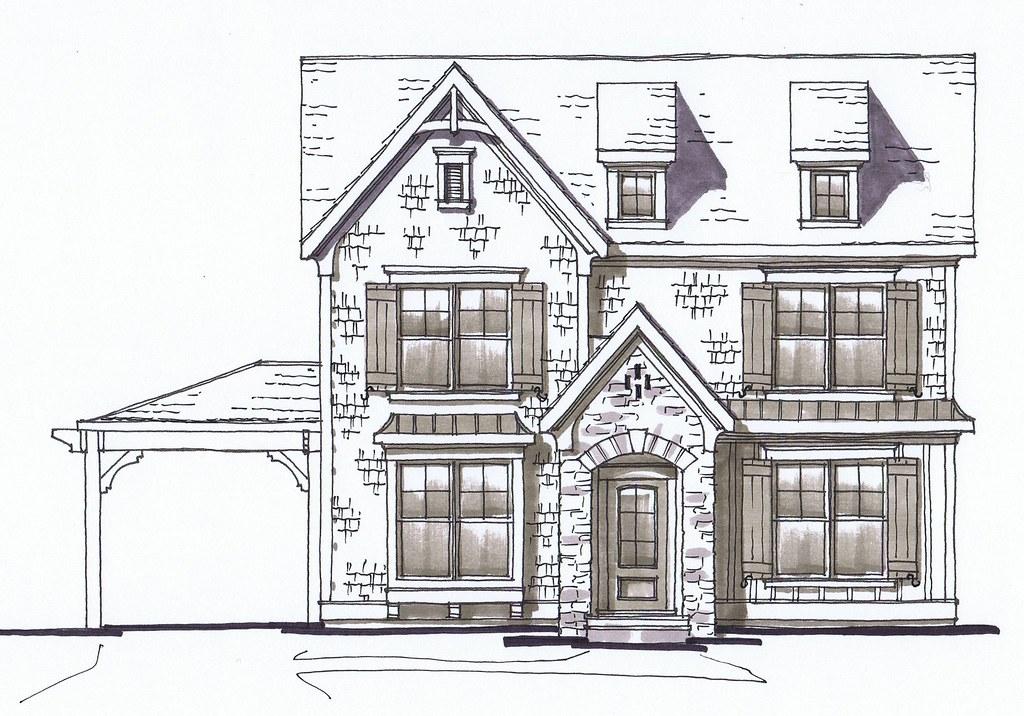 Front Elevation Sketch : Front elevation sketch by lee ryfun alr architects a