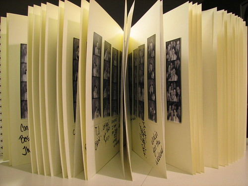 Print a second copy of the photographs to include in your wedding guest book