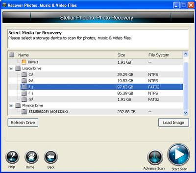 Selecting Storage media- Step-2