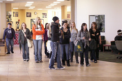 Prospective students touring the MSSU campus