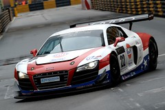 [Free Images] Transportation, Cars, Racing, Audi, Audi R8 ID:201111202000
