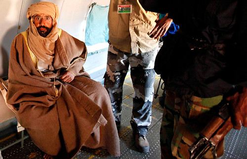 Libyan leader Seif al-Islam Gaddafi was reported captured today in the south of the country. Seif is the heir apparent to Muammar Gaddafi, the martyred leader of this North African oil-rich state. by Pan-African News Wire File Photos