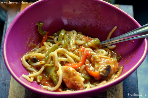 Eating Step 1 Thai Red Curry Noodles
