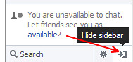 Hide Facebook Sidebar